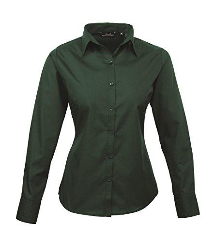 Premier dreambase-camicia a maniche lunghe in Pope Line Verde bottiglia