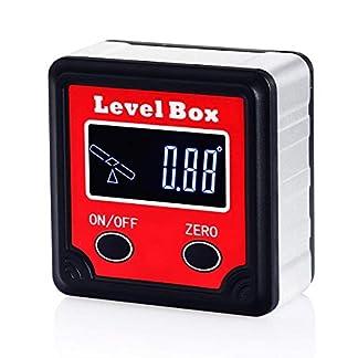 AUTOUTLET Pantalla LCD digital Retroiluminación Nivel de espíritu magnético, Indicador de ángulo digital con valor reversible Transportador / Inclinómetro / Caja de bisel / Buscador de ángulo