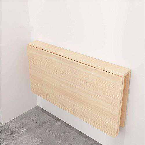 Massivholz Klapptisch Beistelltisch Kreativität Computer-Schreibtisch-Küche-Speicher-Tabelle Kinderlern Tabelle Wandtisch Klapptisch (Größe: 120 * 40cm) Praktischer Klapptisch (Size : 80 * 50cm)