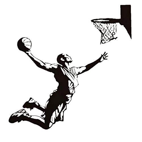 Wandaufkleber Wandaufkleber Personality Wandaufkleber Aufkleber Spiel-Basketball-Wand-Aufkleber-entfernbare Wand-wandaufkleber Ausgangsdekor Schlafzimmer Wohnzimmer Sofa Kulisse 49 * 43cm