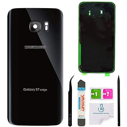 Omnirepairs for Samsung Galaxy S7sm-g930und S7Edge sm-g935Glas Hinten gerichtete Kamera Objektiv Rahmen Montage Ersatz + Kleber + Werkzeug, Weiß
