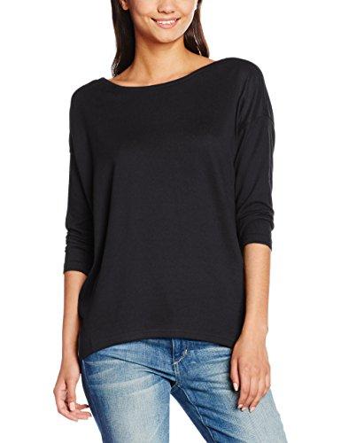 ONLY Damen Langarmshirt Onlelcos 4/5 Solid Top JRS NOOS, Schwarz (Black), 40 (Herstellergröße: L) (T-shirt Hat Top Langarm)
