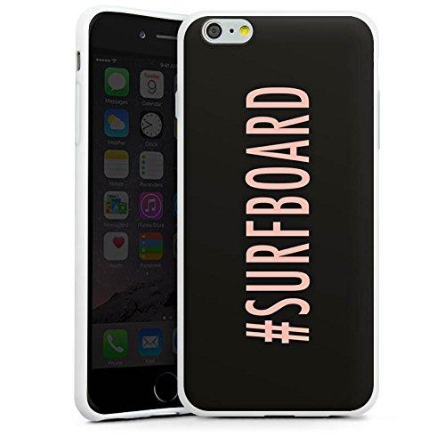 Apple iPhone X Silikon Hülle Case Schutzhülle Surfboard Flawless Statement Silikon Case weiß