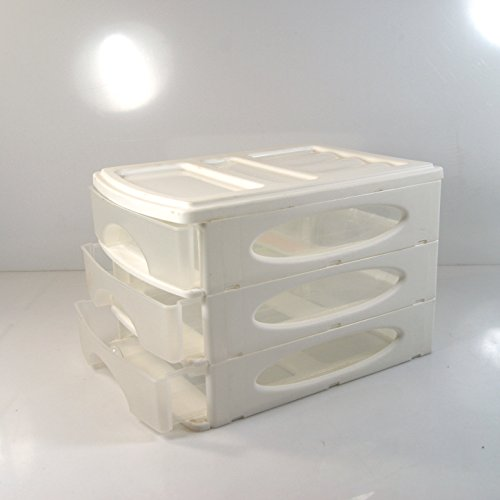 (983) SCHUBLADENBOX Weiss A4 QUADRIX Aufbewahrungsbox Ordnungsbox