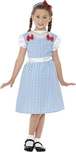 nmädchen Kostüm, Kleid und Haarreif, Größe: S, 41102 (Bauernmädchen Kostüm Halloween)