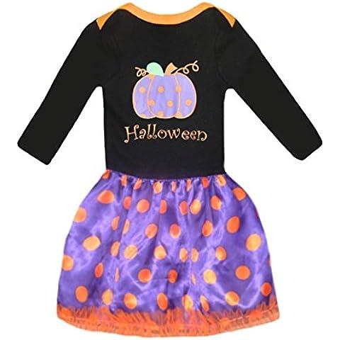 Halloween Ragazze Pumpkin Vestiti Miscela di cotone Puntino Abiti