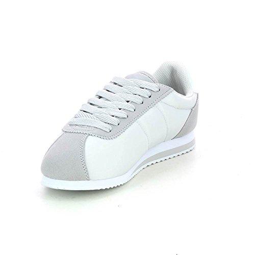 Sneakers Basse Laccate Grigio Ultraleggero