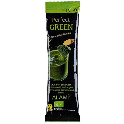 BIO Smoothie to go PERFECT GREEN, veganer Smoothie, Trinkpulver,gefriergetrocknete Superfoods, Obst und Gemüse