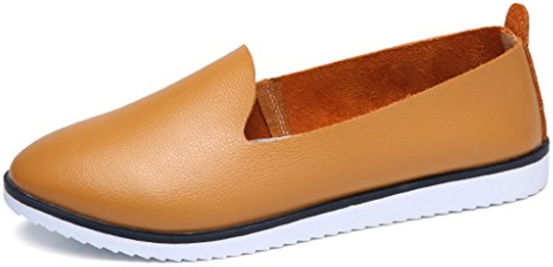 Zapatos para mujer HWF Zapatos de los Oasis de los Guisantes Zapatos Planos de los Estudiantes de Las Mujeres...
