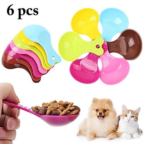 Legendog 6PCS Essen Schaufeln Kreativ Sortiert Farbe Katze Hund Essen Löffel Haustier ()