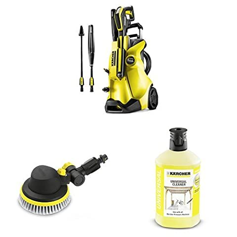 Karcher K4 Full Control Pressure Washer with Rotating Wash Brush and Universal Detergent, 1 L -