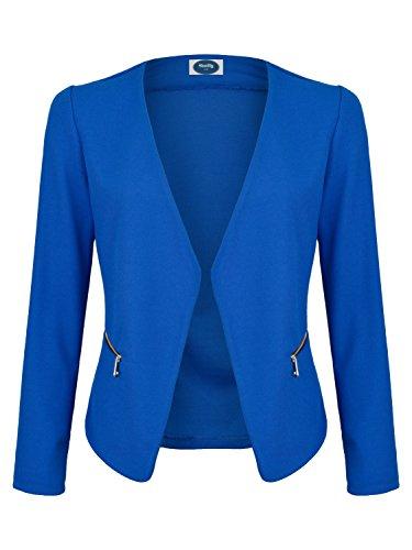 AO Blazer kragenlos mit Zipper royal blau Gr. S (Royal Blauer Blazer)