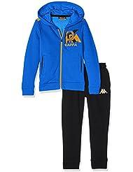 Kappa Basile TKS–Chándal para niño, Basile Tks, Cold Blue/Black, FR : 12 ans (Taille Fabricant : 12 ans)