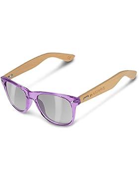 Navaris Gafas de sol UV400 - Gafas de madera para hombre y mujer - Gafas de sol con patillas de madera en diferentes...