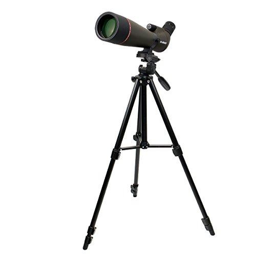 Svbony SV13 Spektiv 20-60x80 Zoom Voll Multi Beschichtetes Optics Porro Prisma IP67 Wasserdicht Spektiv Stativ für Sportschützen (55 Zoll)