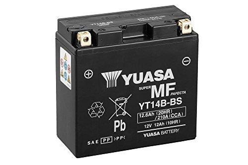 Batteria YUASA YT14B-BS, 12V/12AH (dimensioni: 150X 70X 145) per Yamaha MT 011700anno di costruzione 2005