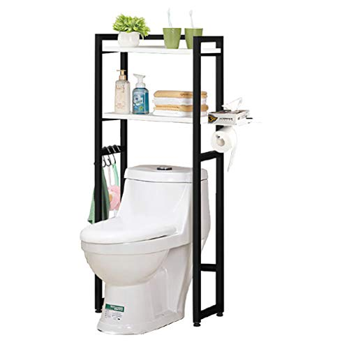 Space Saver Badezimmer Speicher (Haus Wc Storage Rack, 2-Tier Toilette Regal-Speicher-Regal Space Saver Regale Wc Regale Badezimmer Regal Toilettensitz Auf Dem Boden)