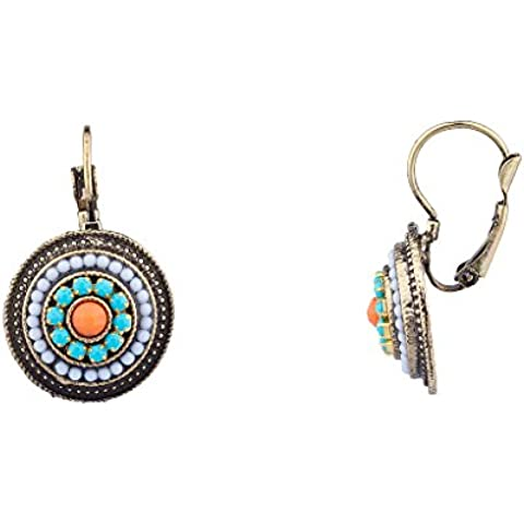 Lux accessori tribali Southwestern Orecchini pendenti con perline in pietra