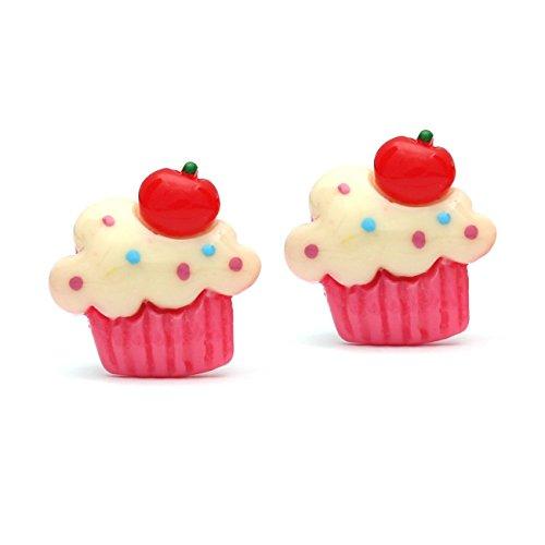 Idin Schmuck Beige Fruit Cupcake Clip auf Ohrringe