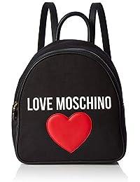 0335d573bb Love Moschino Borsa Canvas E Pebble Pu, Spalla Donna, 11x30x28 cm (W x