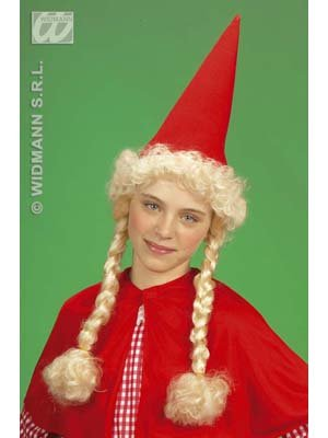 Little Red Riding Hood avec chapeau de cheveux pour les enfants