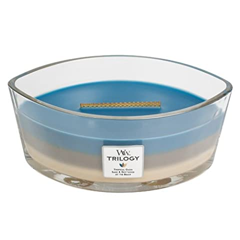 WoodWick Nautical Escape Hearthwick Trilogy Candle, Blue