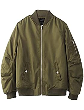 Zhhlinyuan Moda Mens Winter Outerdoor Padded Bomber Jacket Warm Zipped Walking
