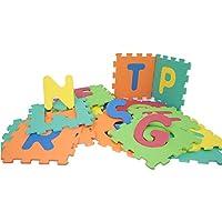 Mamatoy mma93000–mamababy Alfombra Puzzle ABC, Alfombrillas 32x 32cm, Números y Símbolos Separables, 26Unidades