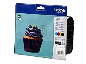 Brother MFC-J 4310 DW (LC-123 VAL BPDR) - original - Ink cartridge multi pack (black, cyan, magenta, yellow) - 600 Pages