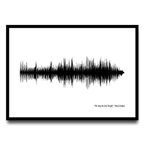 Greta Oto Drucken Sie Ihre Lieblings-Song, Wandbehang, Schallwellen, Sound Wave Art, Soundwave, Soundwave Art, Wave Art Decor, Kunstdruck, Wand-Dekor, Wave Art