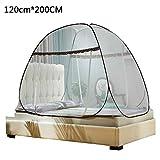 TUANMEIFADONGJI Tragbares Anti-Moskito-Zelt Pop-Up-Moskitonetz für Betten Anti-Moskito-Bisse Klappbare Jurtekuppel-Netze mit Netzboden für Babys