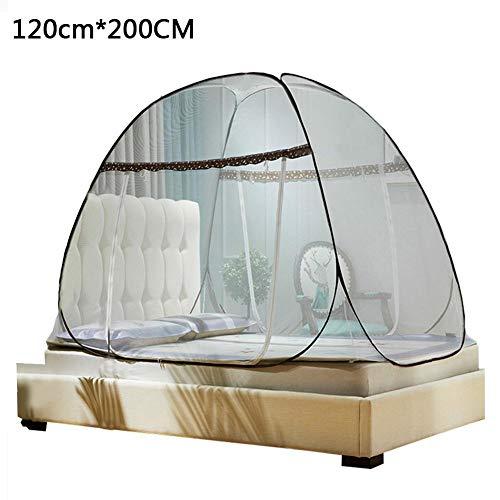 , Pop Up Moskitonetzzelt Groß für Twin bis Kingsize-Betthimmel für Betten Faltendes Design mit Boden ()