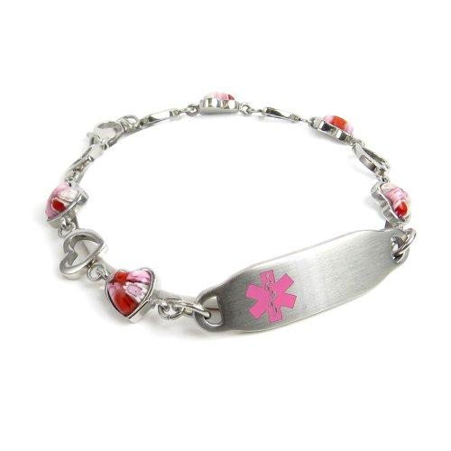 myiddr-engraved-multiple-sclerosis-ms-bracelet-pink-millefiori-glass-hearts-2025cm