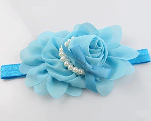 Mode Neugeborene Baby Mädchen Perle String Stirnband Kleinkinder Blume Elastisch Haarband Haarschmuck Fotografie Requisiten von ()
