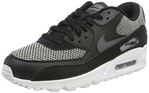 Nike Herren Air Max 90 Essenziale Low-top Schwarz (nero / Grigio Scuro Grigio Scuro-cromo-bianco)
