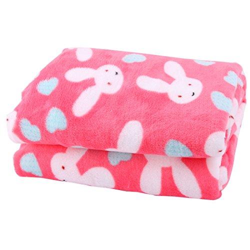 sourcingmap Haus Flanell Rechteck Warm Pyjamas Schal Puppe Machen DIY Tuch Kaninchen Muster