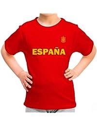 Lolapix Camiseta España roja Personalizada con Nombre y Número. Camiseta de Algodón para Niña. Regalo único Original y Exclusivo. Mundial…
