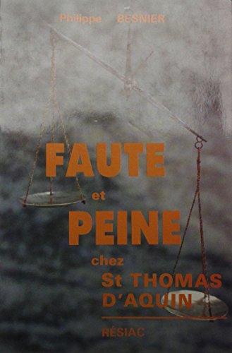 Faute et peine chez St Thomas d'Aquin