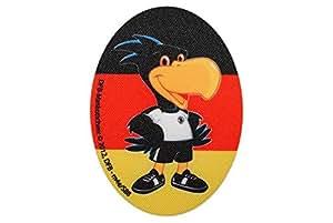 Deutscher Fussball-Bund 8 cm * 11 cm Bügelbild Aufnäher Applikation DFB Fussball Adler Paule Flicken
