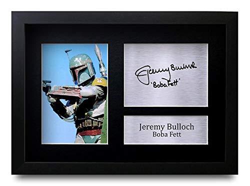 HWC Trading Jeremy Bulloch (GERAHMTES) Geschenke Unterzeichneten A4 Gedrucktes Autogramm Star Wars Boba Fett Druck-Foto-Bilderanzeige