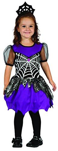 Kleine Spinnenkönigin Spinderella Kostüm Kinder blau-schwarz-silber Gr. 92-104 - Vampirkostüm für Mädchen - elegantes Vampir Kostüm Kinder Mädchen (Kostüm Spinderella)