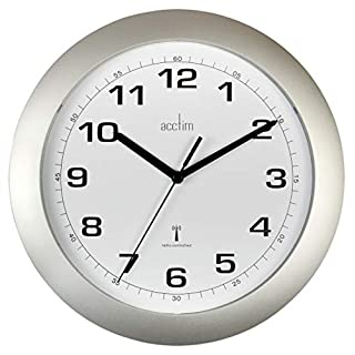Acctim 'Cadiz' Silver Radio Controlled Wall Clock