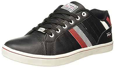 Fila Men's Neptune II Blk and Rd Sneakers - 6 UK/India (40 EU)(11003988)