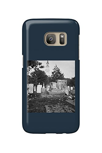 Charleston, SC - Ruins of Bombarded Graveyard Civil War Photograph (Galaxy S7 Cell Phone Case, Slim Barely There)