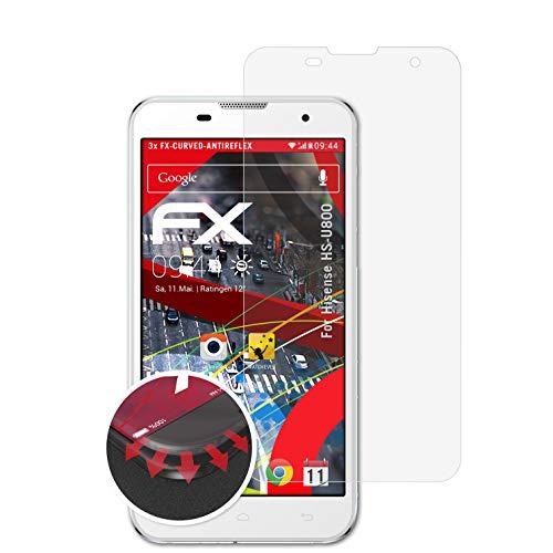 atFolix Schutzfolie passend für Hisense HS-U800 Folie, entspiegelnde & Flexible FX Bildschirmschutzfolie (3X)