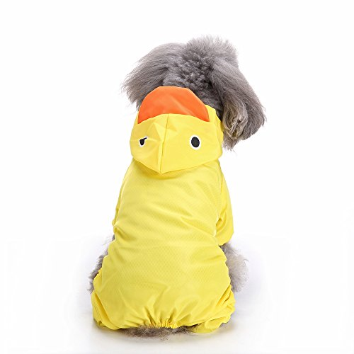 Faway Hunde Regenmantel, Pet Regen Jacke Zupfbürste Lovely Ente aniamls Design Puppy Outdoor Wasserdicht Regenanzug (Regen Slicker Regenmantel)