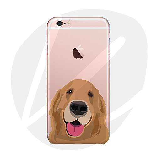 Sleeping bear)Apple iPhone 7/8 Hülle,Cartoon Tier Haustier Hund Dog Telefon Schutzhülle Case,Weiche Glänzend Transparent TPU Cover + Handy-Lanyard.-Golden Retriever -