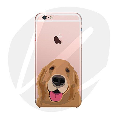 Sleeping bear)Apple iPhone 7/8 Hülle,Cartoon Tier Haustier Hund Dog Telefon Schutzhülle Case,Weiche Glänzend Transparent TPU Cover + Handy-Lanyard.-Golden Retriever -