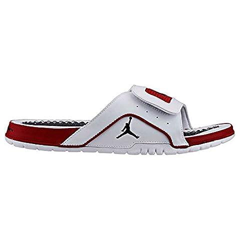 Nike Mens Jordan Hydro 4 Retro White Red Synthetic Sandals 41 EU
