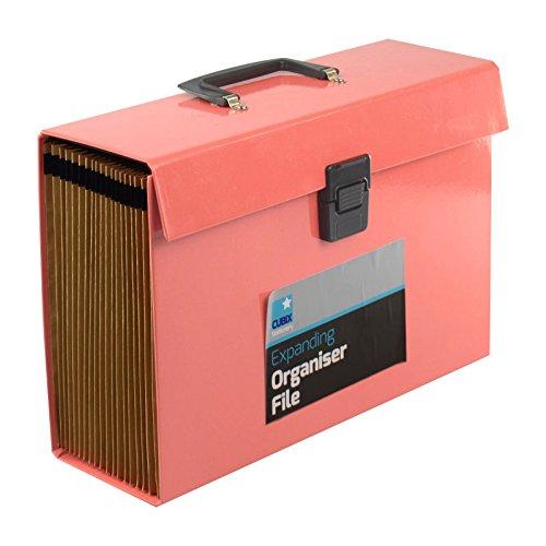 19Pocket Expansion Box Datei Organizer A4Dokumente, Kanzleipapier Ordner Fall Sichere Aufbewahrung Home Office Schule hellrosa